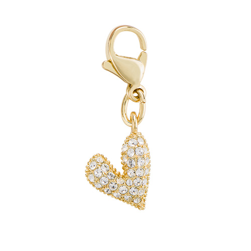 DG5072 Gold Heart Dangles with Crystals by Swarovski1 as Smart Object 1